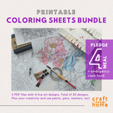Coloring Sheets Bundle 5in1