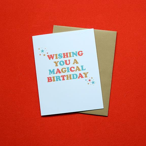 Folded Greeting Card - Magical Birthday by Design Hatch