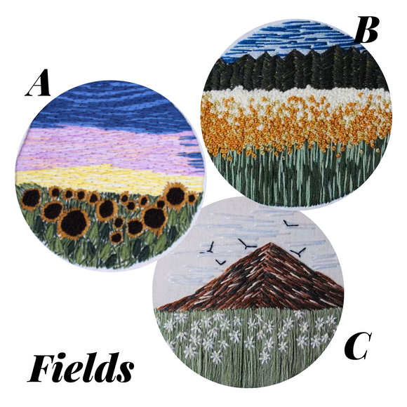 Fields Embroidery Kit