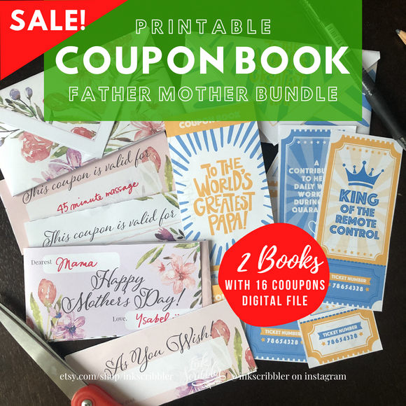 Bundle: Father's Mother's Day Coupon Book - The Craft Central