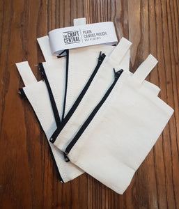 Plain Canvas Pouch 5 Set