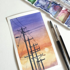 Basic Watercolor: Painting the Sunset