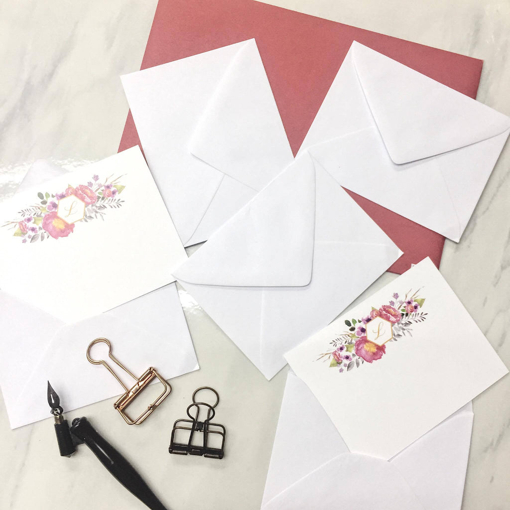White Baronial Envelope 10s