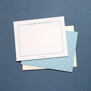 Flat Note Card - Warm Wishes by Design Hatch