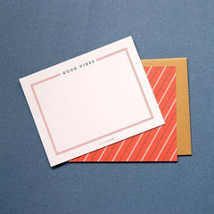 Flat Note Card - Good Vibes by Design Hatch