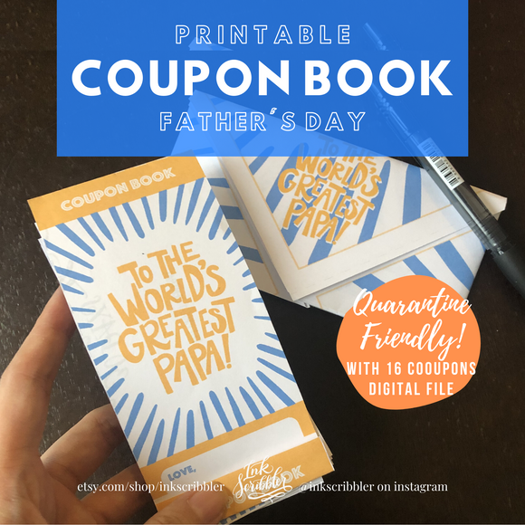 Father's Day Coupon Book Printable