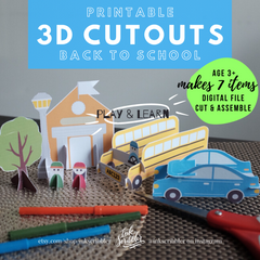 3D Cutouts: Back to School