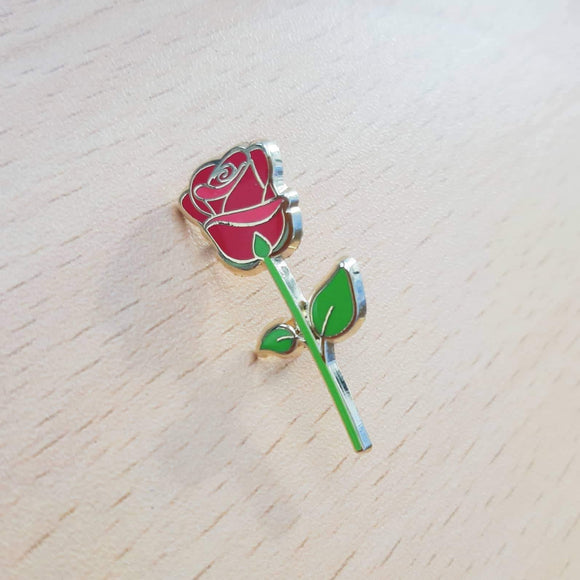 Red Rose Pin by Simplifist Paper and Pins