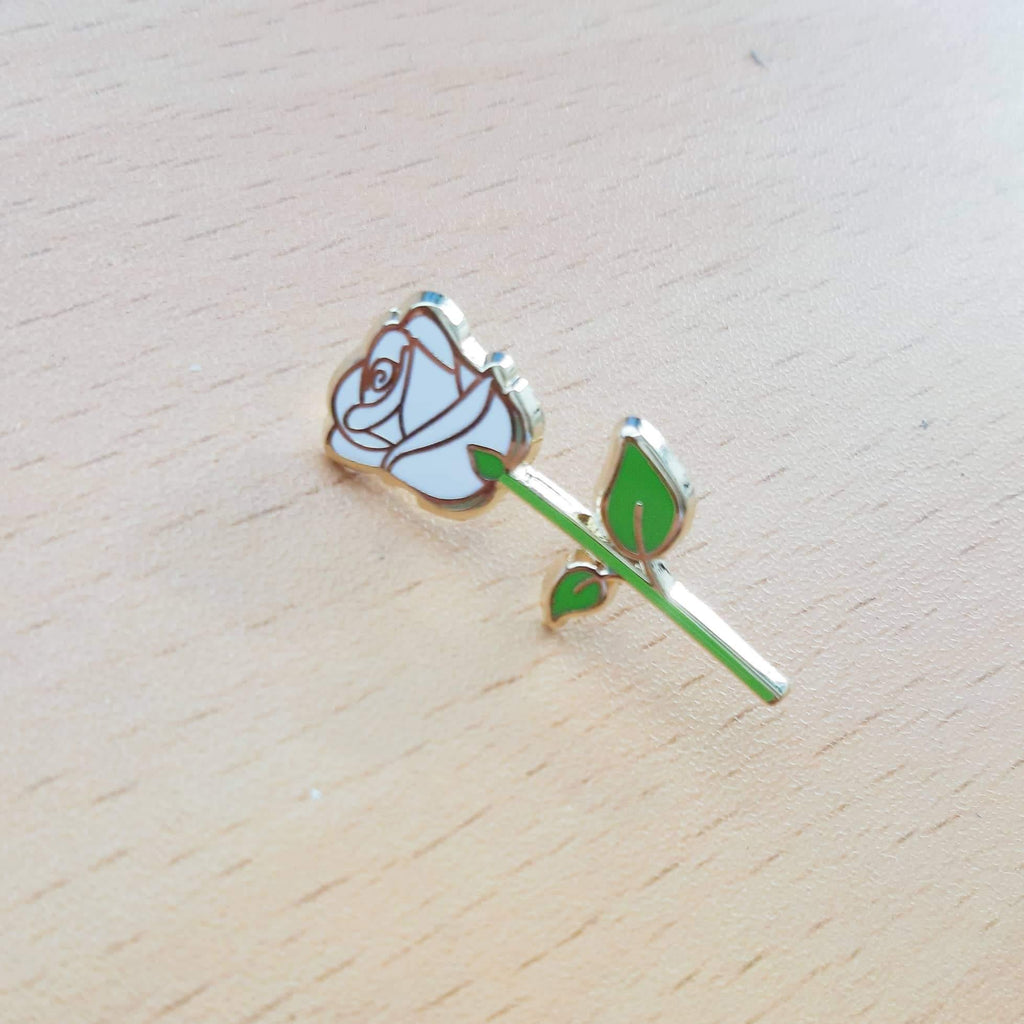 White Rose Pin by Simplifist Paper and Pins
