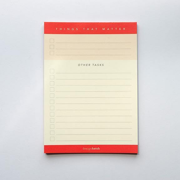 A6 Notepad - Things That Matter  by Design Hatch
