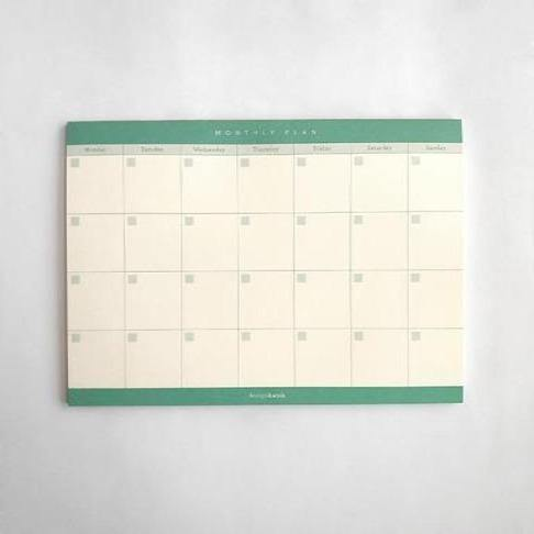 A5 Notepad - Monthly Plan by Design Hatch - The Craft Central