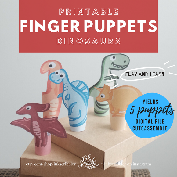 Finger Puppets - Dinosaurs