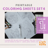 Coloring Sheets Set4: Nature