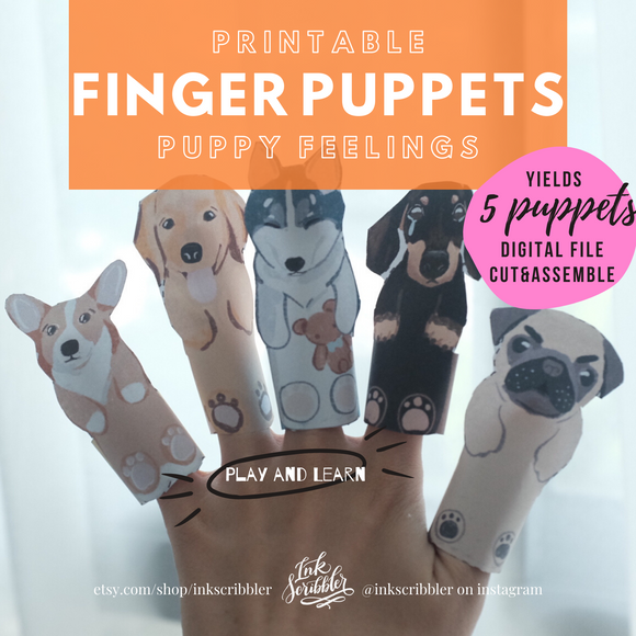 Finger Puppets - Puppy Feelings