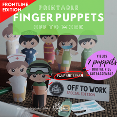 Finger Puppets - Off to Work