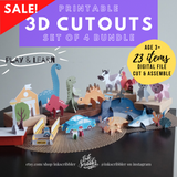 3D Cutouts Bundle 4in1