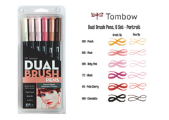 Tombow 6 Color Set Portrait Pallette