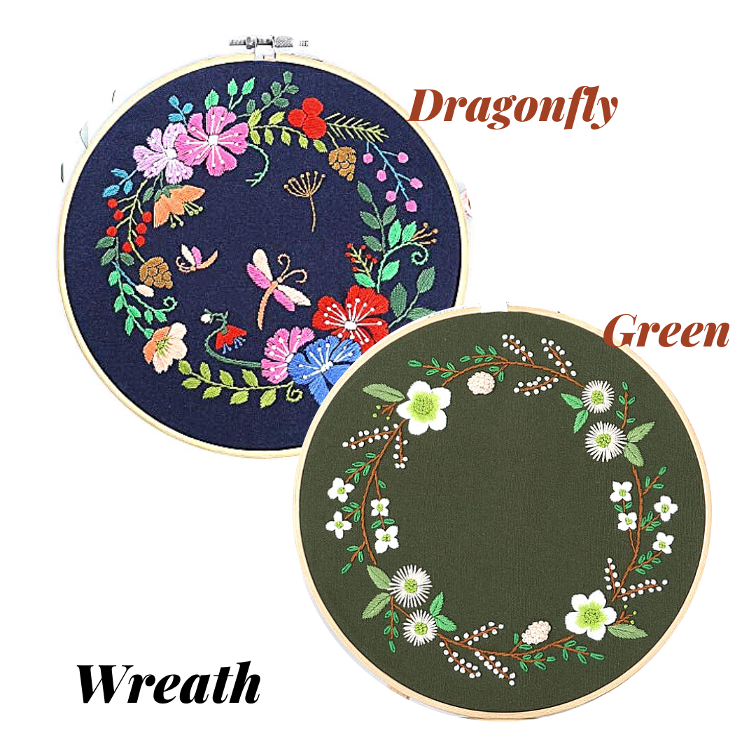 Wreath Embroidery Kit - The Craft Central
