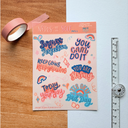 Notes to Self Motivational Stickers