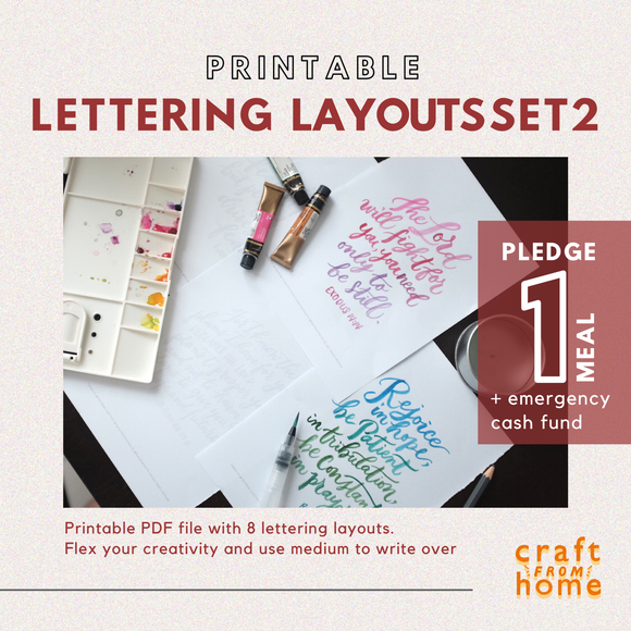 Lettering Layouts Set2: Verses