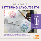 Lettering Layouts Set4: Verses