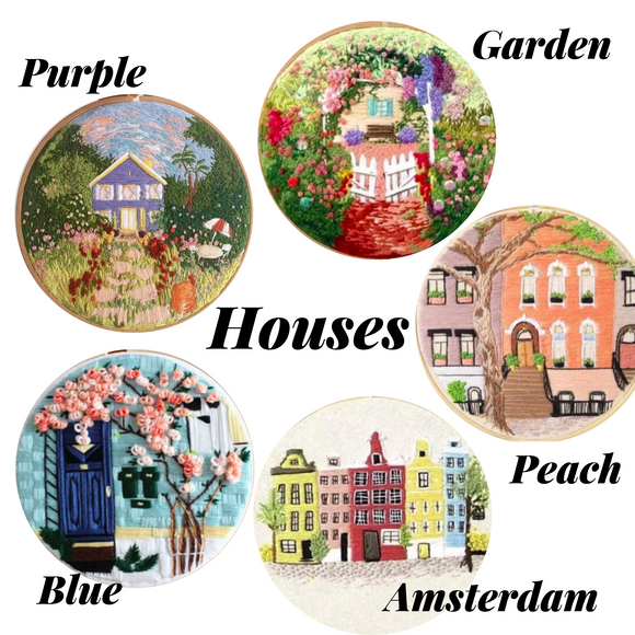 Houses Embroidery Kit