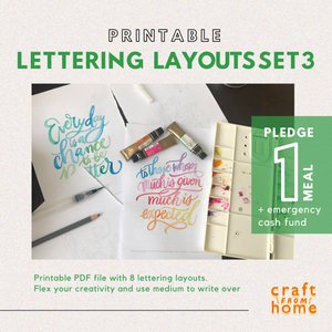 Lettering Layouts Set3: Motivate