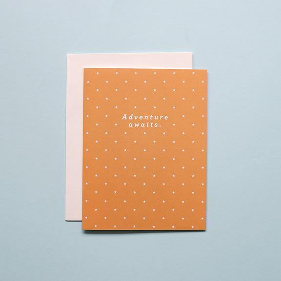 Folded Greeting Card - Adventure Awaits by Design Hatch