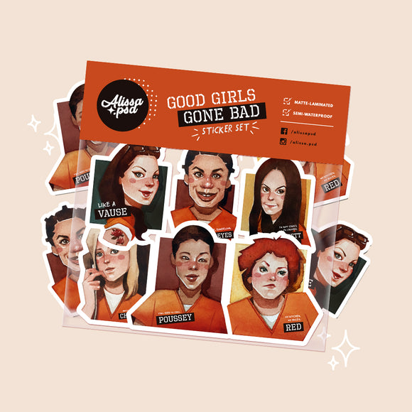 Good Girls Gone Bad Sticker Set