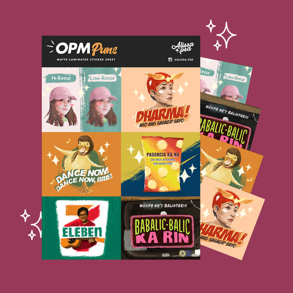 OPM Puns Sticker Set