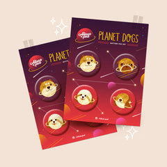 Planet Dogs Button Pin Set
