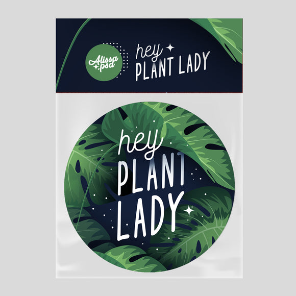 Plant Lady Button Pin