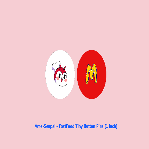Fast Food Tiny Button Pins by Ame Senpai
