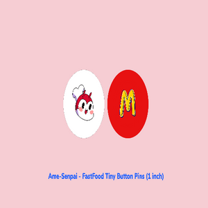 Fast Food Tiny Button Pins
