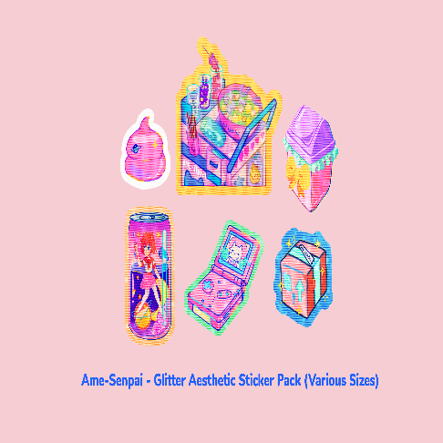 Glitter Aesthetic Sticker Pack