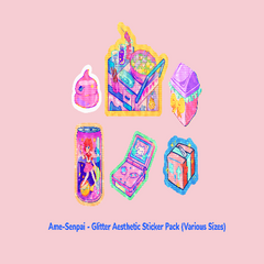 Glitter Aesthetic Sticker Pack by Ame Senpai