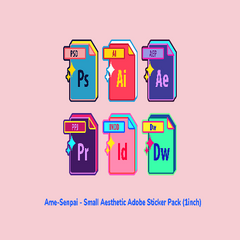 Aesthetic Adobe Sticker Pack by Ame Senpai