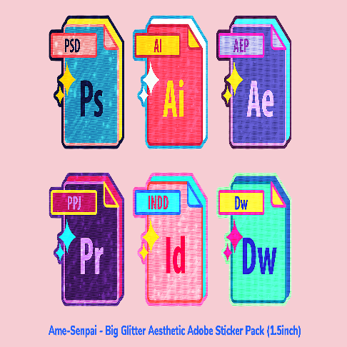 Big Glitter Aesthetic Adobe Pack by Ame Senpai