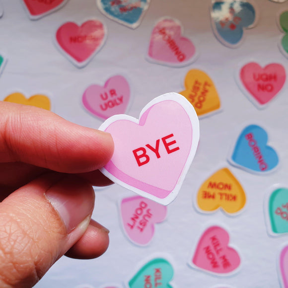 Passive-Aggressive Candy Hearts Sticker Pack - The Craft Central