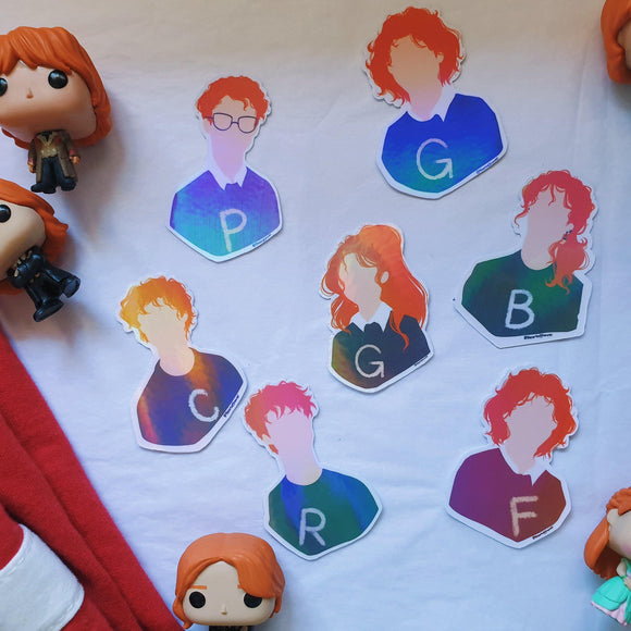 The Weasleys Minimalist Sticker Pack - The Craft Central