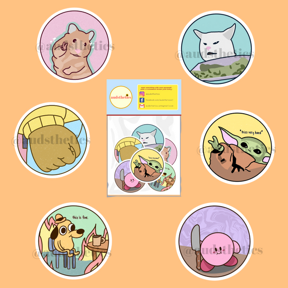 AUD Pastel Memes Sticker - The Craft Central