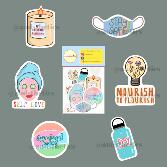 AUD Self Care Sticker Pack