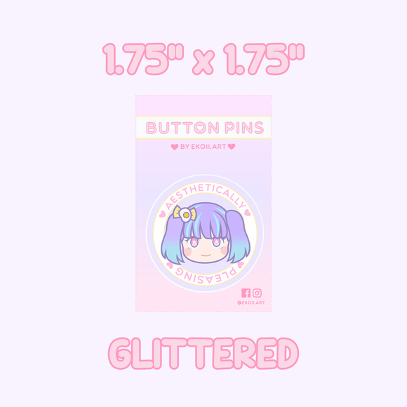 Aesthetically Pleasing Button Pin by EkoiiArt