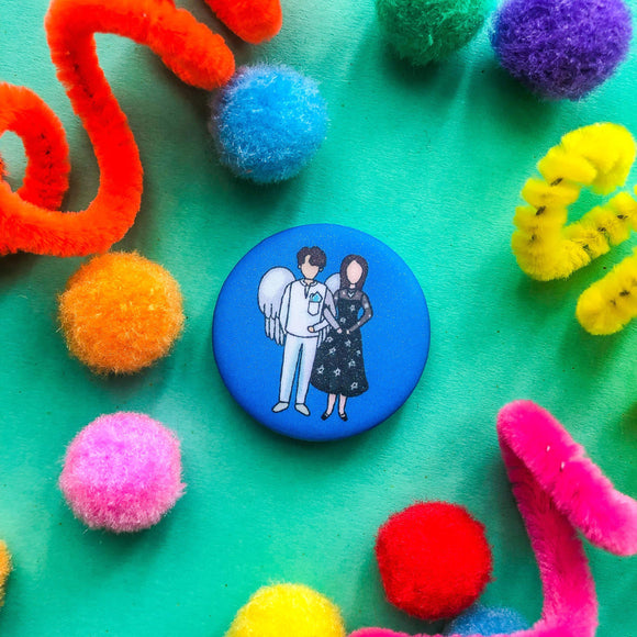 Angels Last Mission Button Pin - The Craft Central