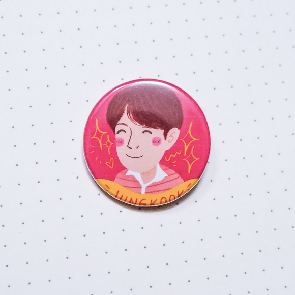 BTS Jungkook Button Pin