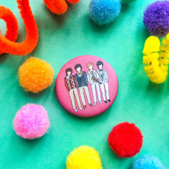 Boys Over Flowers Button Pin - The Craft Central
