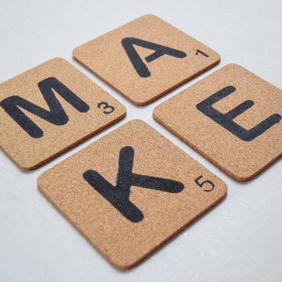 Scrabble Coaster by The Cork Project