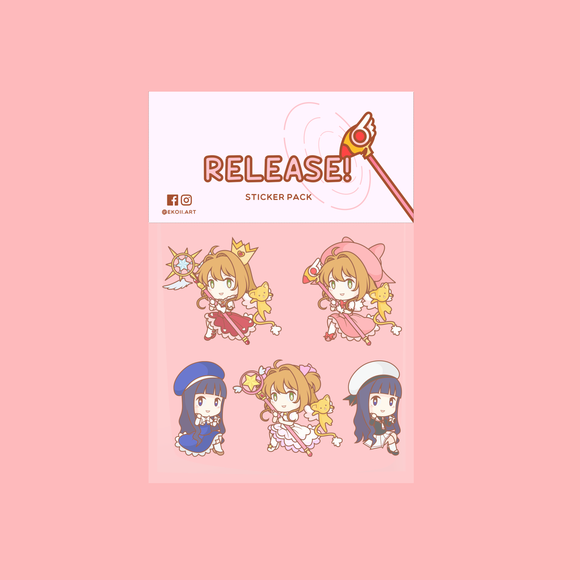 Cardcaptor Sakura Sticker Pack by EkoiiArt