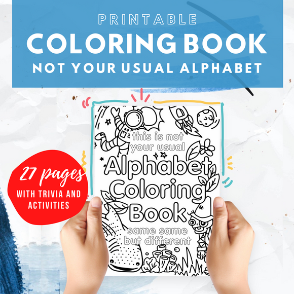 Not Your Usual Alphabet Coloring Book - The Craft Central