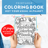Not Your Usual Alphabet Coloring Book